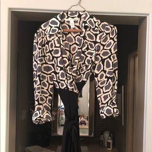 Diane Von Furstenberg silk wrap around dress